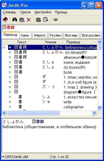 Программа для распознавания японских иероглифов